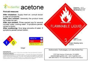 Acetone Reagent 67 64 1 C3h6o Propanone Nugentec