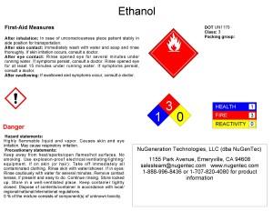 Ethanol Anhydrous Acs Grade Nugentec