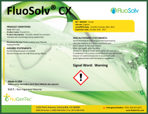 FluoSolv® CX vapor degreasing fluid, Boeing D6-17487 Revision P